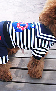 Dog Shirt / T-Shirt Black Summer Nautical / Stripe Zebra