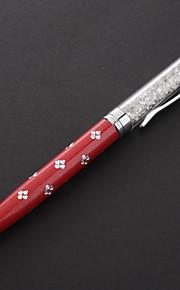 Høy kvalitet Fylt Crystal to-i-ett kulepenn Designet kapasitiv penn for iPhone / iPad og annet (assorterte farger)