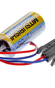 Mitsubishi A6BAT ER17330V 3.6V 2000mAh Lithium Battery Industrial w / Plug