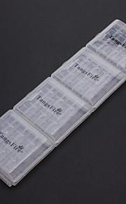 4 Clip Holder Box Case voor 4 stuks TangsFire AA / AAA batterij (wit)