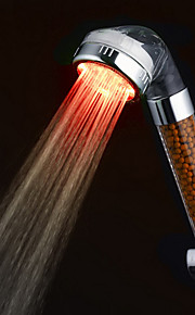 ABS 3-fargetemperatur Sensitive LED fargeendringen hånddusj