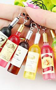 Simples encantadores Mini_Bottle Pequeño colgante para el teléfono móvil (color al azar)