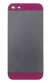 Negro aleación del metal de la cubierta trasera de la batería con Dark Purple Glass para el iPhone 5