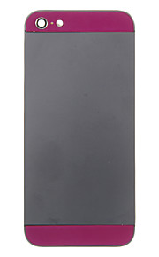 Black Metal Alloy Voltar Bateria Caixa com vidro escuro roxo para iPhone 5
