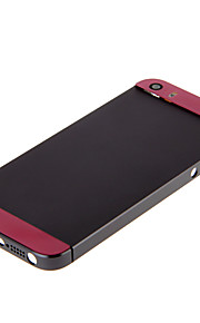 Gray Hard Metal Alloy Tillbaka Batterihus med rosa Glas för iPhone 5s