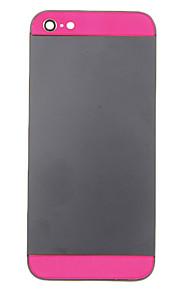 Black Metal Alloy Voltar Bateria Caixa com Rose de vidro para o iPhone 5