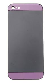 Black Metal Alloy Voltar Bateria Caixa com vidro roxo para iPhone 5