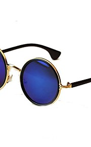 Unisex Vintage farverige Lens runde stel metal solbriller