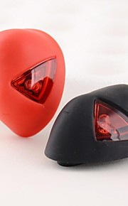 Bicycle Safety 2-LED 3-Mode Rechargeable Red Rear Light (Black / Red)