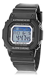 Masculino Relógio Esportivo Digital LCD / Calendário / Cronógrafo / alarme Banda Preta / Azul / Verde marca-