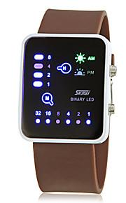 Masculino Relógio de Pulso Digital LED / Calendário Silicone Banda Azul / Marrom / Azul Marinho marca-