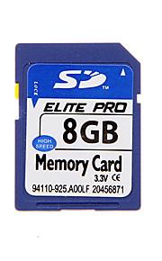 alta qualidade cartão de memória SD para dispositivos móveis e muito mais (azul) 8g