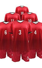 Men's Short Sleeves Soccer Suit Burgundy