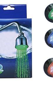 LED 3 Colors Vanntemperatur Visualizer Sensor Round dusjhodet