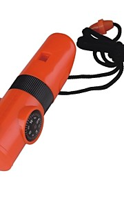 Survival Whistle Hiking Multi Function / Whistle Plastic Orange