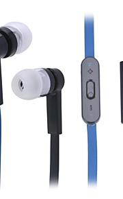 JTX JL-760 Universal (3.5mm Plug In-Ear Earphones with Microphone for Smartphone (Black + Blue)