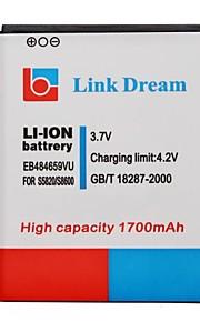 Link Dream High Quality 3.7V 1700mAh mobiele telefoon batterij voor Samsung M930 S5820 T589 T759
