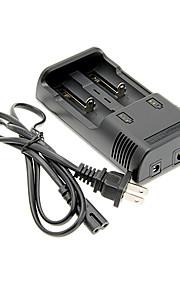 JETBeam I2 Carregador de Bateria para 26650/18650/16340 (para 2 pilhas)