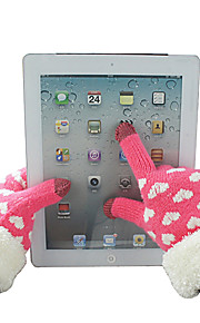 Heart Pattern Fluff Woolen Touch Gloves(Assorted Color)