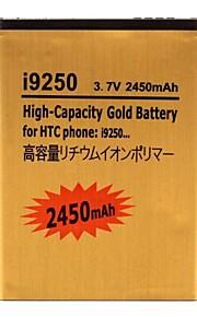 Bateria de lítio-ion substituição 2450mah para i9250 HTC