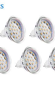 GU5.3 - 4 W- MR16 - Spotlights (Warm White 300 lm- DC 12/AC 12 V- 5 stk