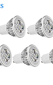 GU10 - 5.5 W- MR16 - Spotlights (Warm White 330 lm- AC 85-265 V- 5 stk