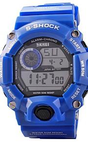 Masculino Relógio Esportivo Quartzo Japonês LED / Calendário / Cronógrafo / Impermeável PU Banda Azul marca- SKMEI