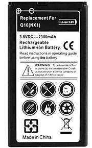 2300mah alta capacidad recargables de reemplazo de la batería del polímero del li-ion para q10 blackberry