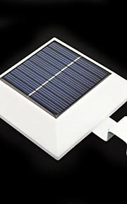 4-LED Solar Powered Fence Gutter Lett Yard Garden Wall Lobby Pathway Lampe med PIR bevegelsessensor