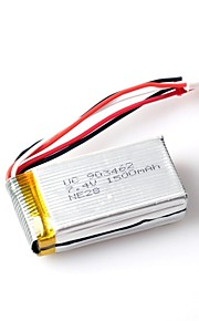 wl ® legetøj tilbehør 7.4V 1500mAh jsj plug 2s 30c lipo batteri for wl v913helicopter og l959/l979 4wd rc hobby buggy bil