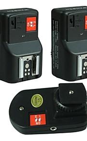 WanSen frete grátis PT-04GY 4 Canais Wireless / Radio Gatilho Flash / Transmissor com dois receptores para Canon Nikon