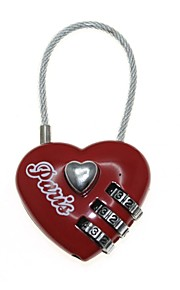 3-Digit Combination Password Heart Lock (Code: 000)