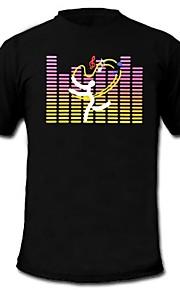 herre lyser førte t-shirt lyd og musik aktiveret equalizer til fest bar raver