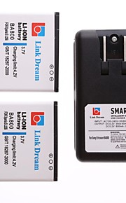 enlace sueño 2 x batería del teléfono celular + cargador para sony xperia s hd arco lt26i (2800 mah)