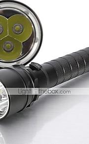 Lanternas LED / Lanternas de Mão LED 5 Modo 4000 Lumens Prova-de-Água Cree XM-L T6 18650.0Campismo / Escursão / Espeleologismo / Uso