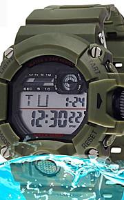 digital moda relógio de pulso à prova d'água esporte dos homens com despertador cronômetro levou