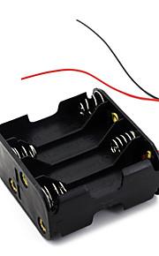 8 stuks aa cellen batterij (12V) clip houder doos geval zwart
