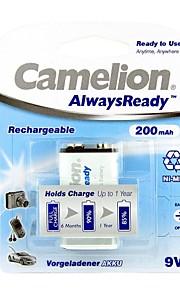 camelion AlwaysReady 200mAh lage zelfontlading ni-mh 9v oplaadbare batterij (1 st)