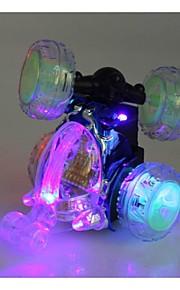 nyeste trådløse RC bil 360 graders rotation dans stunt bil med blinkende lys og musik tilfældig farve inc.battery