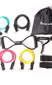 KYLIN SPORT™ 12 PCS Resistance Band Set Yoga Pilates Abs Exercise Fitness Tube Workout Bands