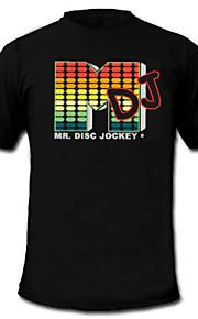 lyd og musik aktiveret VU Meter EL Visualizer T-shirt  (4*AAA)