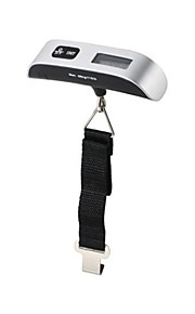 "50kg/110ID 0.44"" LCD Digital Display Luggage Scale with Strap"