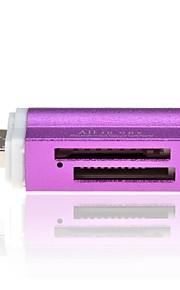 Mini portátil todo en un lector de tarjetas de memoria soporta múltiples
