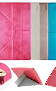 Enkay multi fällbara skydds smarta fall mjukt bakstycket med stativ för iPad 2/3/4 (blandade färger)