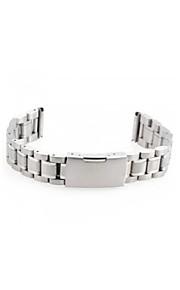 mulheres homens 16 milímetros pulseira de prata pulseira de banda de relógio de aço curvo final de alta qualidade