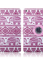 Pink Elephants Pattern 360 Degree Rotation PU Leather Full Body Case with Stand for iPad 2/3/4