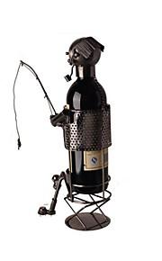 fanjiushi ® decorações de metal rack de vinho da casa escritório mobiliário mesa da arte de pesca 44-1871