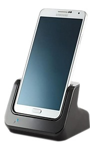 dual sync caricabatterie stazione del bacino della culla supporto uscita audio per Samsung N900 Nota3