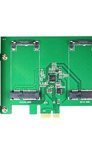 maiwo kcssd2 2 x 1,8-Zoll mSATA-PCI-E SSD mSATA auf PCI-E-Karte