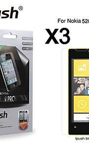 노키아 (520)에 대한 높은 투명성 HD LCD 화면 보호기 (3 개)
